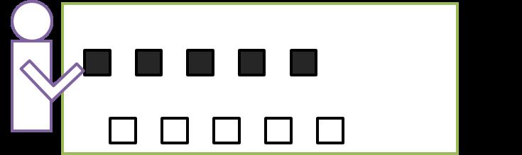 コンピューター内の動作7:プロセッサーがプログラムの指示に従ってデータを動かす(例:メモリ内にあるデータの1が0と0の間の空白に、0が1と1の間の空白に入るように移動する)