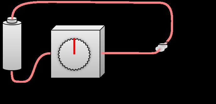 電気を流していないときの透明な液晶素子