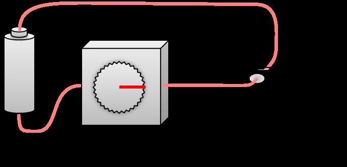 電気を流したときの不透明な液晶素子