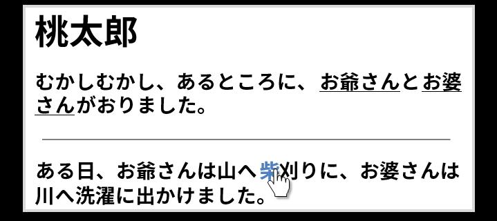桃太郎の話のページ(柴にリンク)